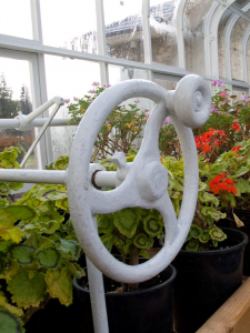 irrigation system wheel in greenhouse