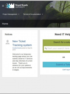 IT ticket tracking system