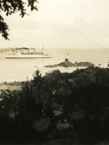 View of Fisgard Lighthouse from Journey's End