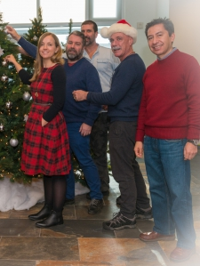 Picture of Studio team with Christmas tree