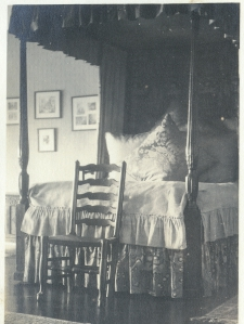 A bedroom at Hatley Castle during the Dunsmuir era