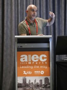 Frederic Fovet presenting at AIEC 2019