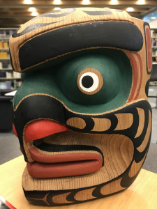 Bookwus Mask carving by Dr. Peter Smart