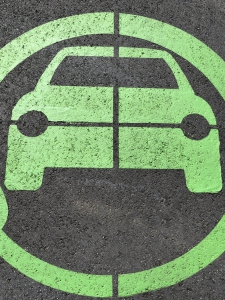 Logo of an electric car