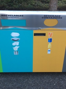 New outdoor recycling units