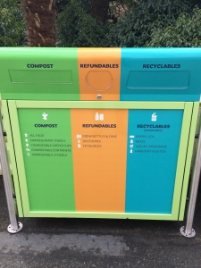 New outdoor recycling units!
