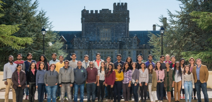 MGM 2017-2 Cohort in front of Hatley Castle on a beautiful fall day