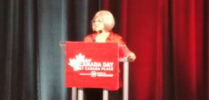Vancouver Canada Day speech by Marilyn Taylor | Crossroads