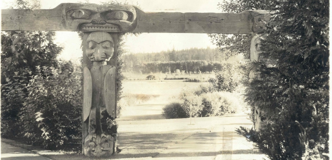 A First Nations Structure at Hatley Park in the 1920s