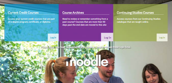 Image of Moodle login