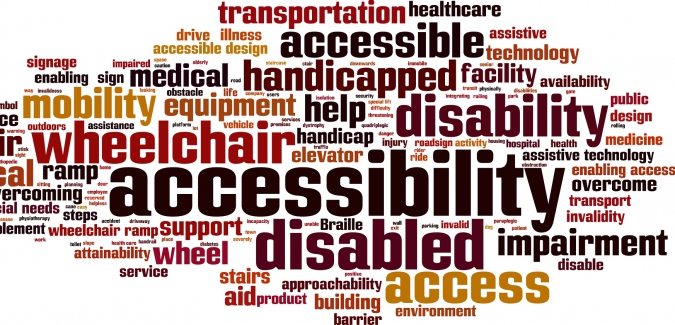 Image of compilation of words related to disability and discrimination