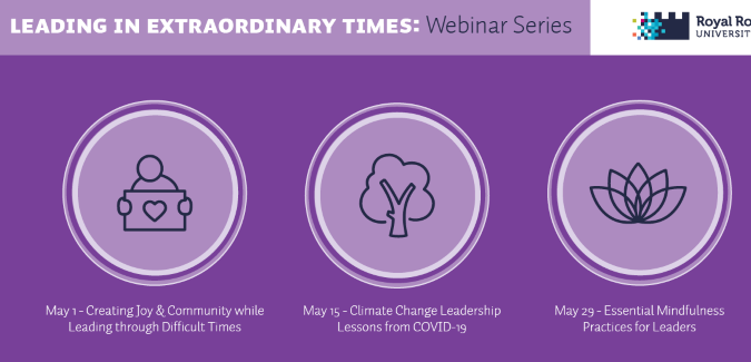 Graphic for Leading in Extraordinary Times Webinar Series