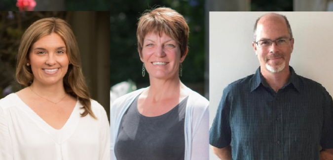 Photo: New Student Team Performance members (left to right) Kate Landreth, Trish Dyck and Paul Kurucz