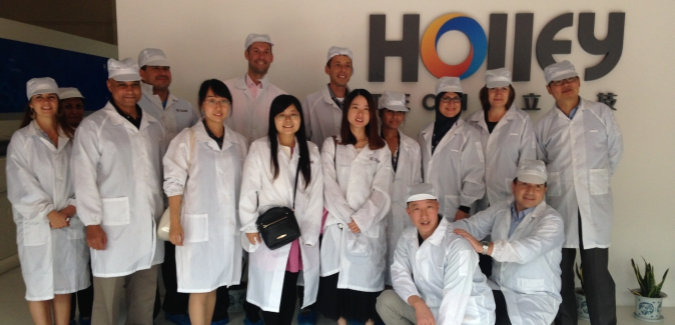 RRU and ZGU students and faculty visit Holley Group