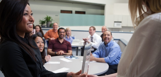 A Toastmasters receives a communication and leadership development