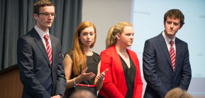 The Dublin Institute of Technology came away with the top prize at the 12th Royal Roads University International Undergraduate Case Competition.