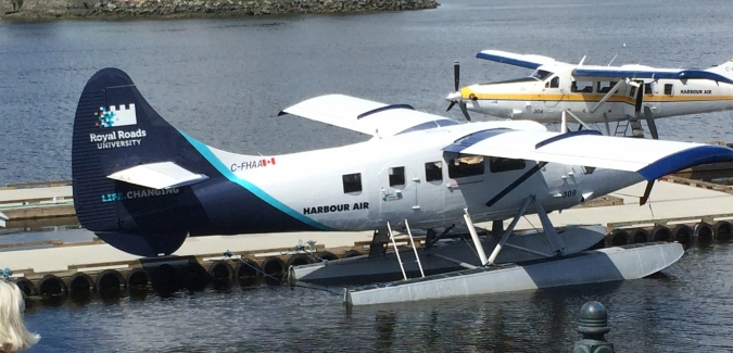 Royal Roads Harbour Air float plane