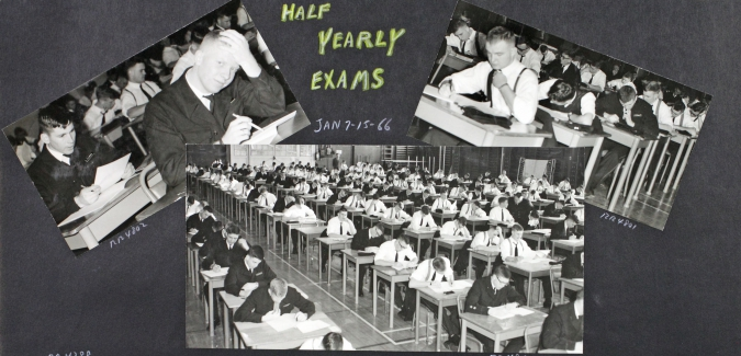 January exams 1966 photo album RRMC fonds RRU Archives