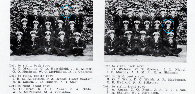 Known D-Day participants from RCNC 1943 Log RRMC RRU Archives