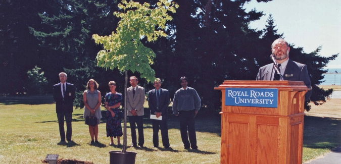 Linden tree planting 8 July 1996 RRU Archives