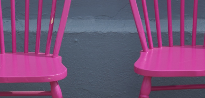 Pink chairs - Miksang photography