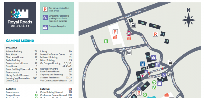 Updated campus map now available   Crossroads