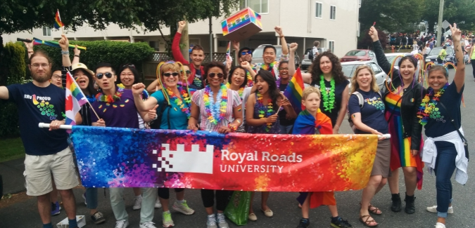 RRU Proud in the Victoria Pride Parade