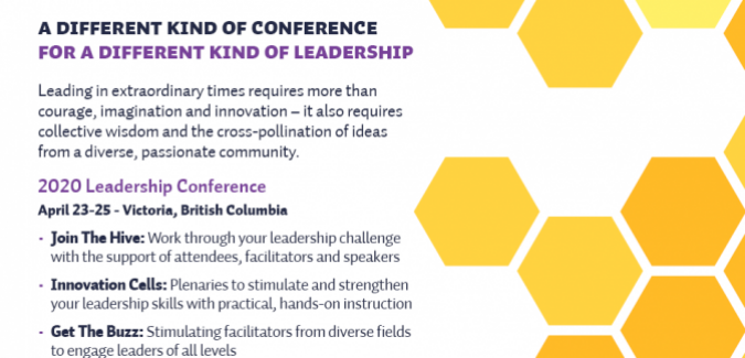 Leadership Conference 2020 promotional postcard