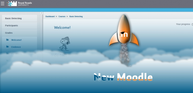 New Moodle look