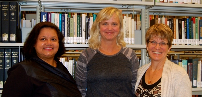 Nooreen Shah-Pressuer, Barb Colombin and STP Manager, Trish Dyck