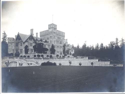 Hatley Castle from the croquet lawn